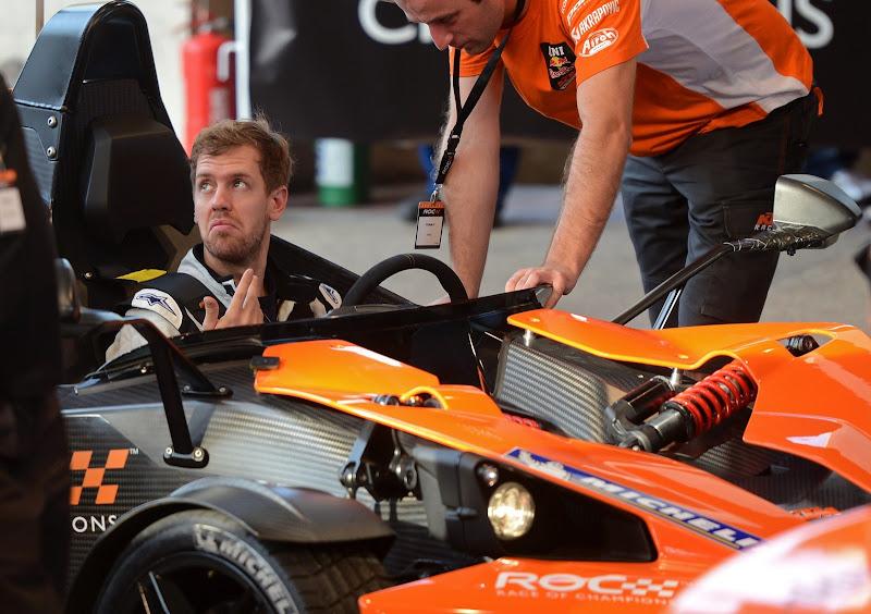 Себастьян Феттель в KTM ROC на Гонке чемпионов 2012