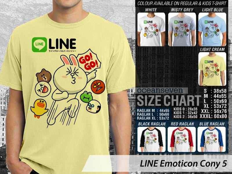 KAOS IT LINE Emoticon Cony 5 Social Media Chating distro ocean seven