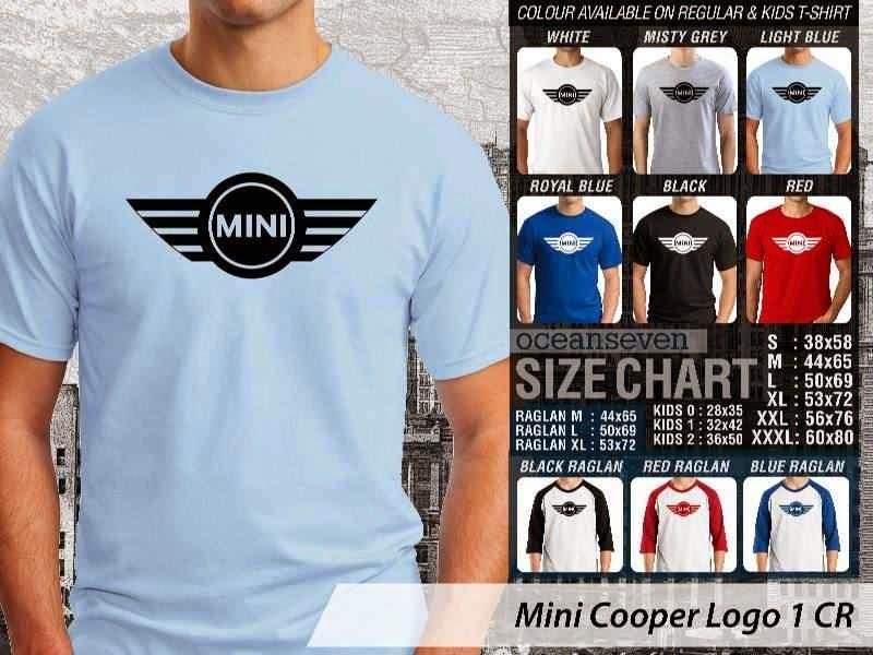KAOS Mini Cooper Logo Otomotif distro ocean seven