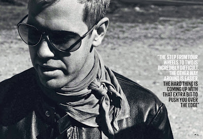 Себастьян Феттель в кожаной куртке и очках - из журнала The Red Bulletin November 2013