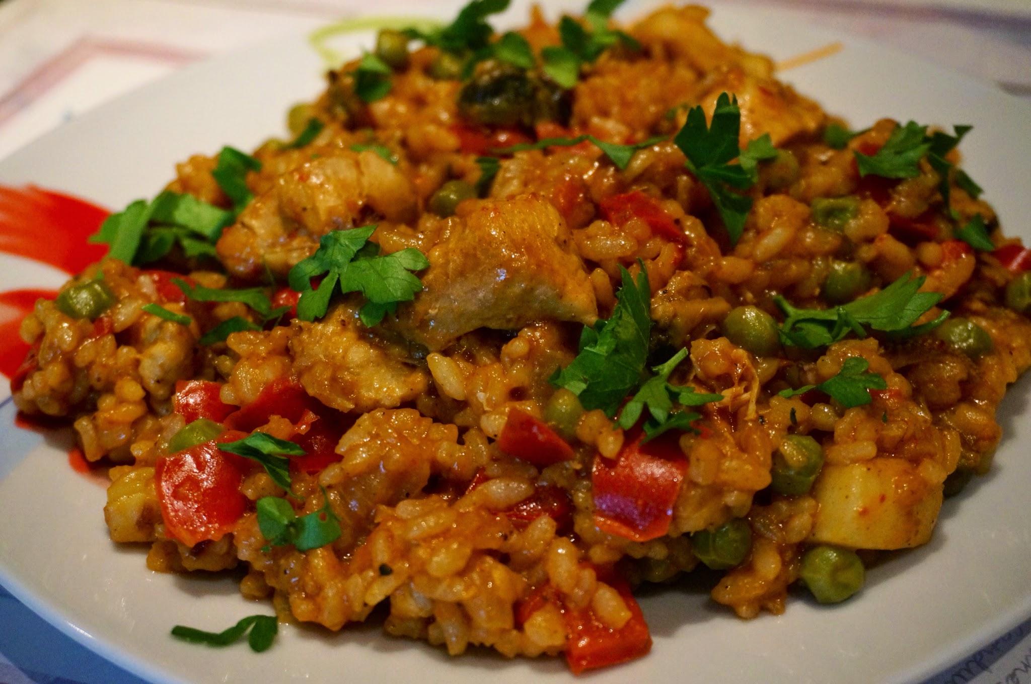 Рецепт паэльи с курицей и овощами фото рецепт пошаговый