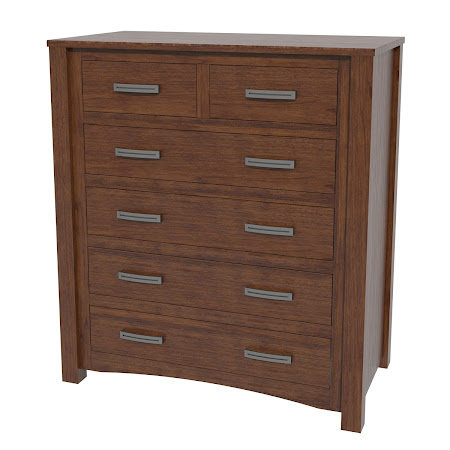 Dakota Vertical Dresser in Winter Walnut