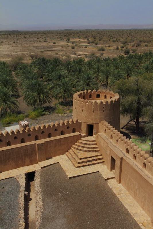 Watch tower at one corner of Jabreen Castle, Oman