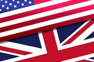 Banderas Estados Unidos USA y Reino Unido UK Inglés britanico y americano