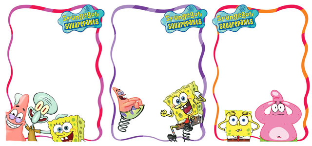 Download Gratis Frame Foto Anak Spongebob