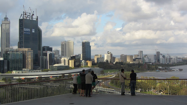 Perth's skyline as seen from King's Park and Botanic Gardens.