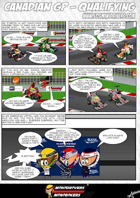 комикс MiniDrivers по Гран-при Канады 2013