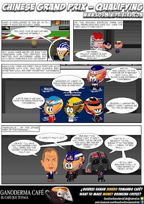 комикс MiniDrivers по квалификации Гран-при Китая 2013