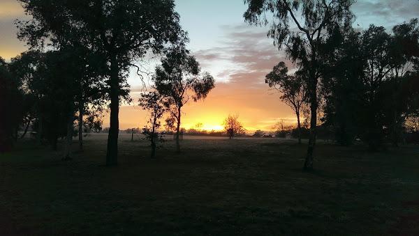 sunrise in holder