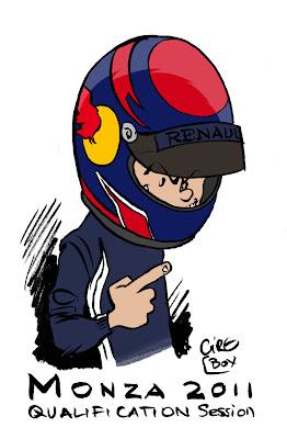 комикс Cirebox - Себастьян Феттель на поуле Гран-при Италии 2011 в Монце