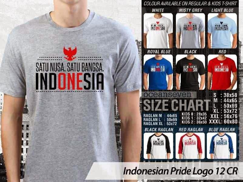 KAOS Satu nusa satu bangsa. Indonesia Indonesian Pride Logo 12 distro ocean seven