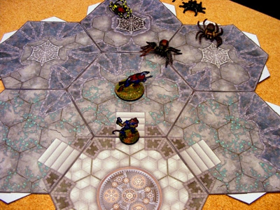 Hex Grid Corridor Tiles Spider Caves and Temple Sample