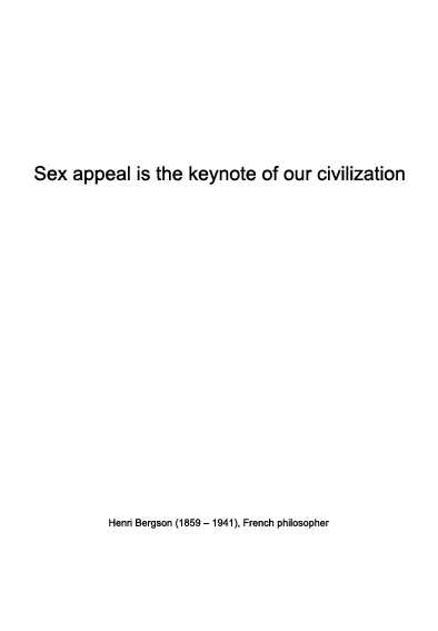 Fashion quote | Henri Bergson on sex appeal | Warmenhoven & Venderbos Blog