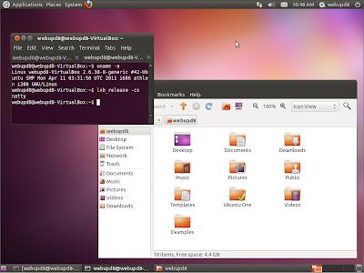 Classic Ubuntu 11.04 desktop