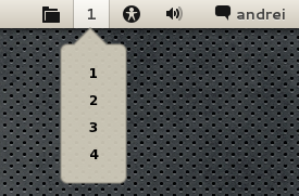 Gnome Shell Workspace Indicator