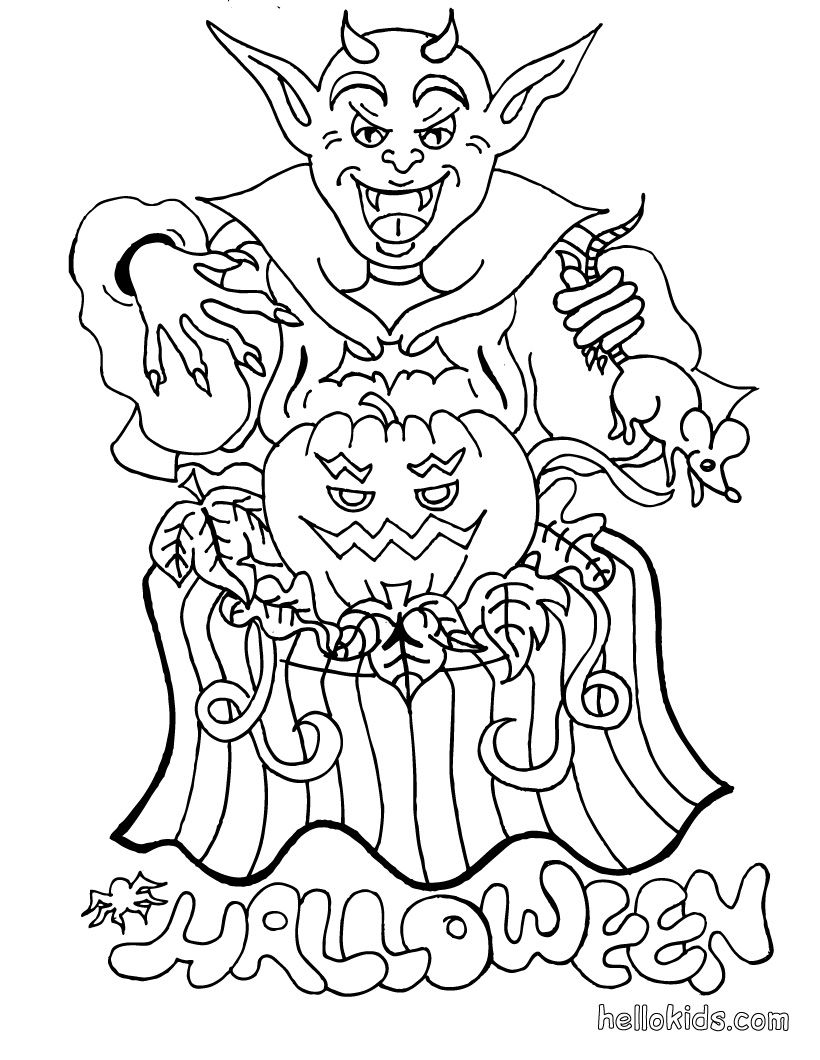 free printable coloring pages halloween - Halloween Worksheets and Coloring Pages TLSBooks