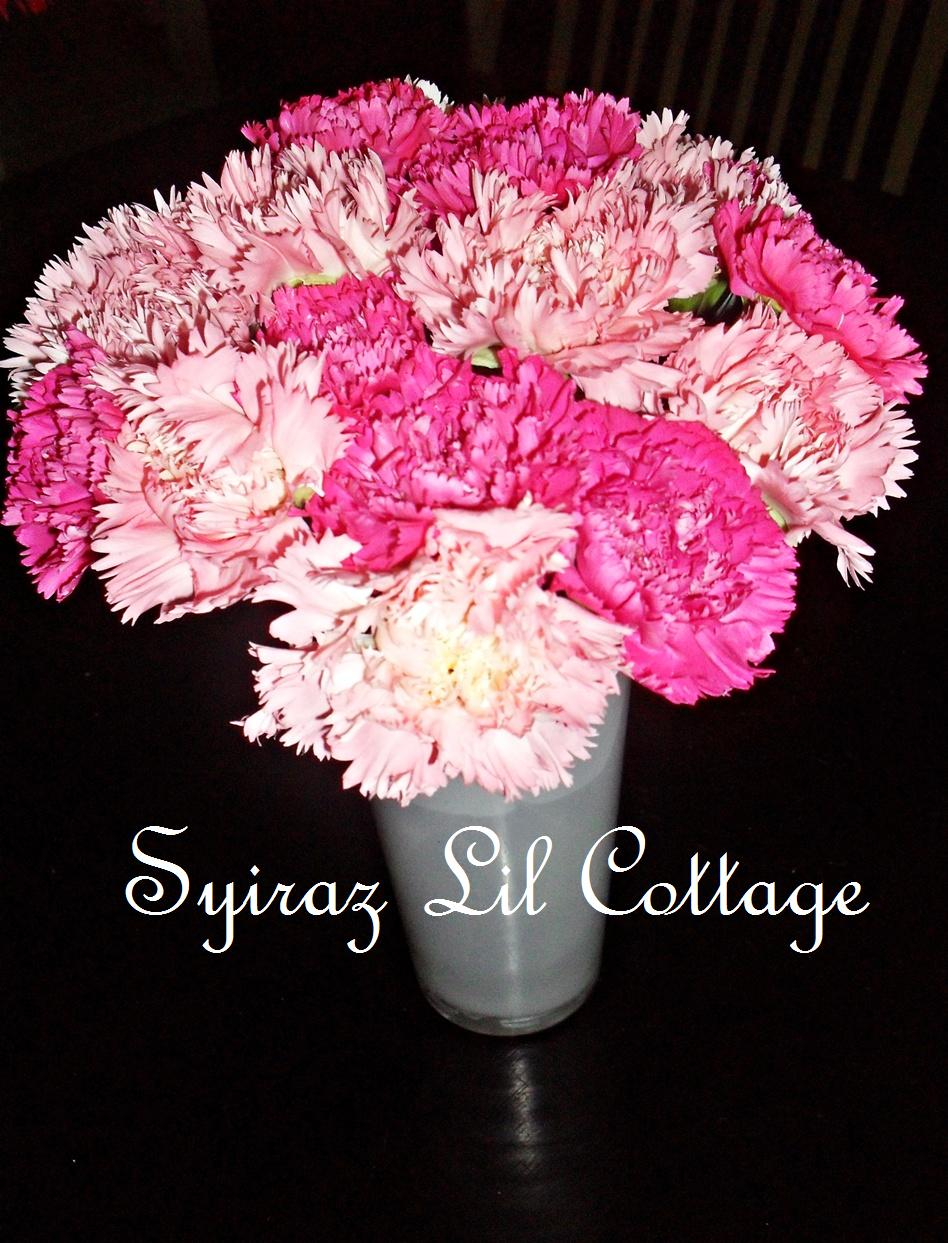 Carnation centerpieces for