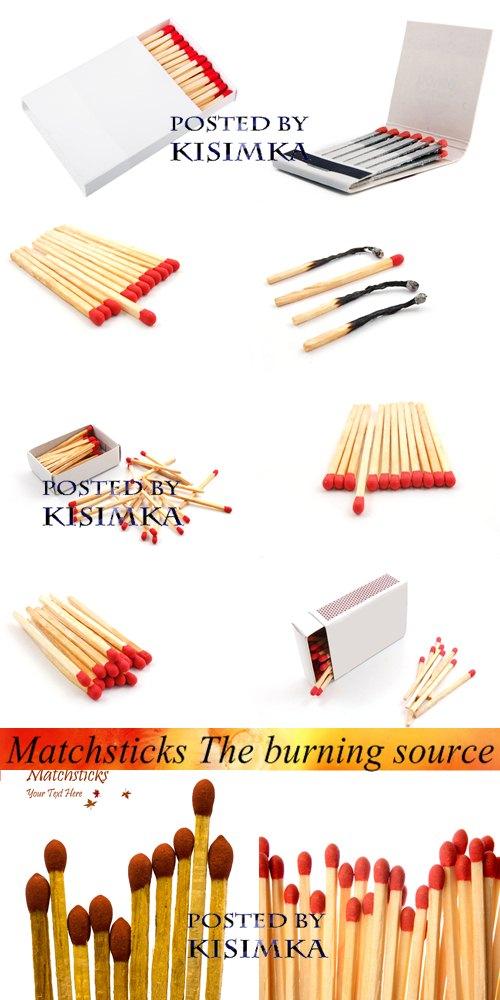 Stock Photo: Matchsticks The burning source