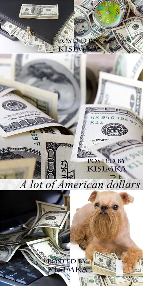 Stock Photo: A lot of American dollars