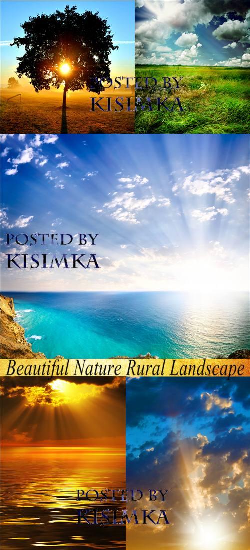Stock Photo: Beautiful Nature Rural Landscape