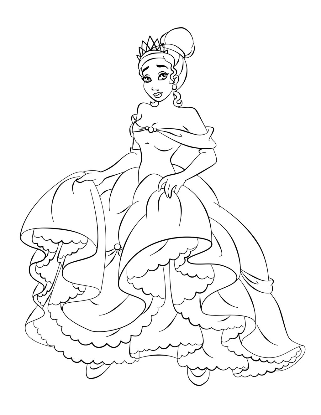 Princess Coloring Pages, Sheets and Pictures Free  - princess coloring pages printable free