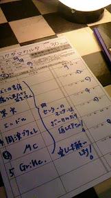 2011/05/14 URAWA NARCISS SETLIST