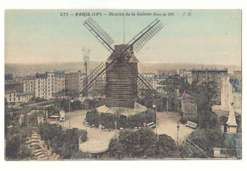 Vintage Pancake Mill Postcards with syrup - Moulin de la Galette