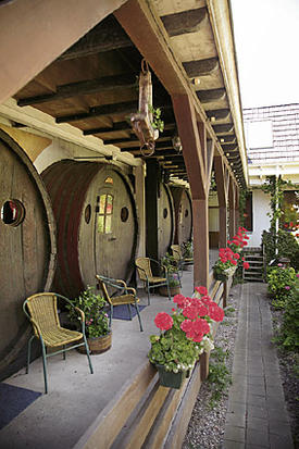 Wine Cask Hotel Rooms!