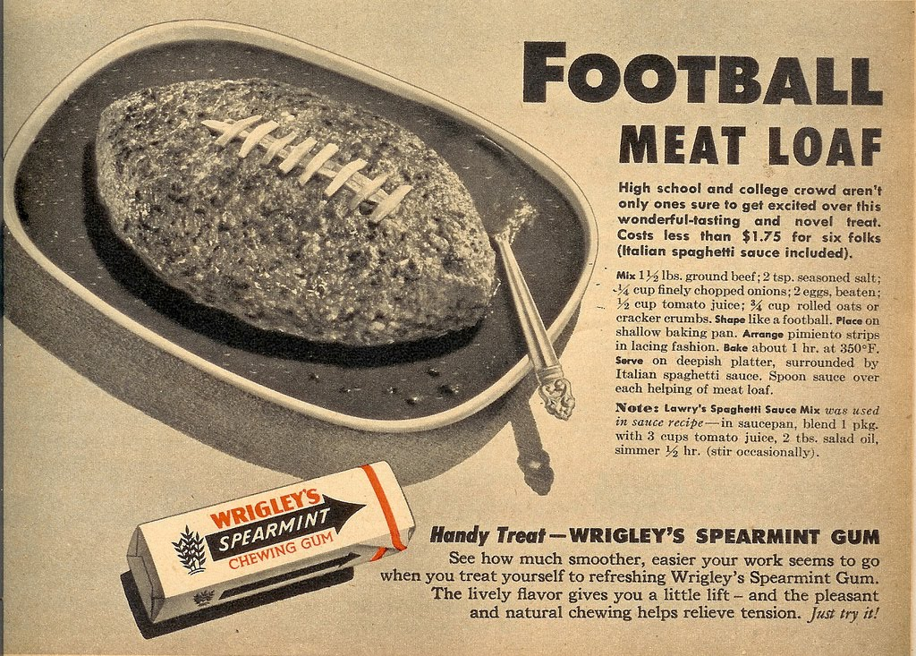 Meatloaf and Wrigley's Spearmint Gum