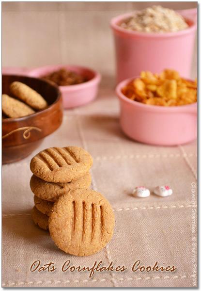 Oats Cornflakes Cookies
