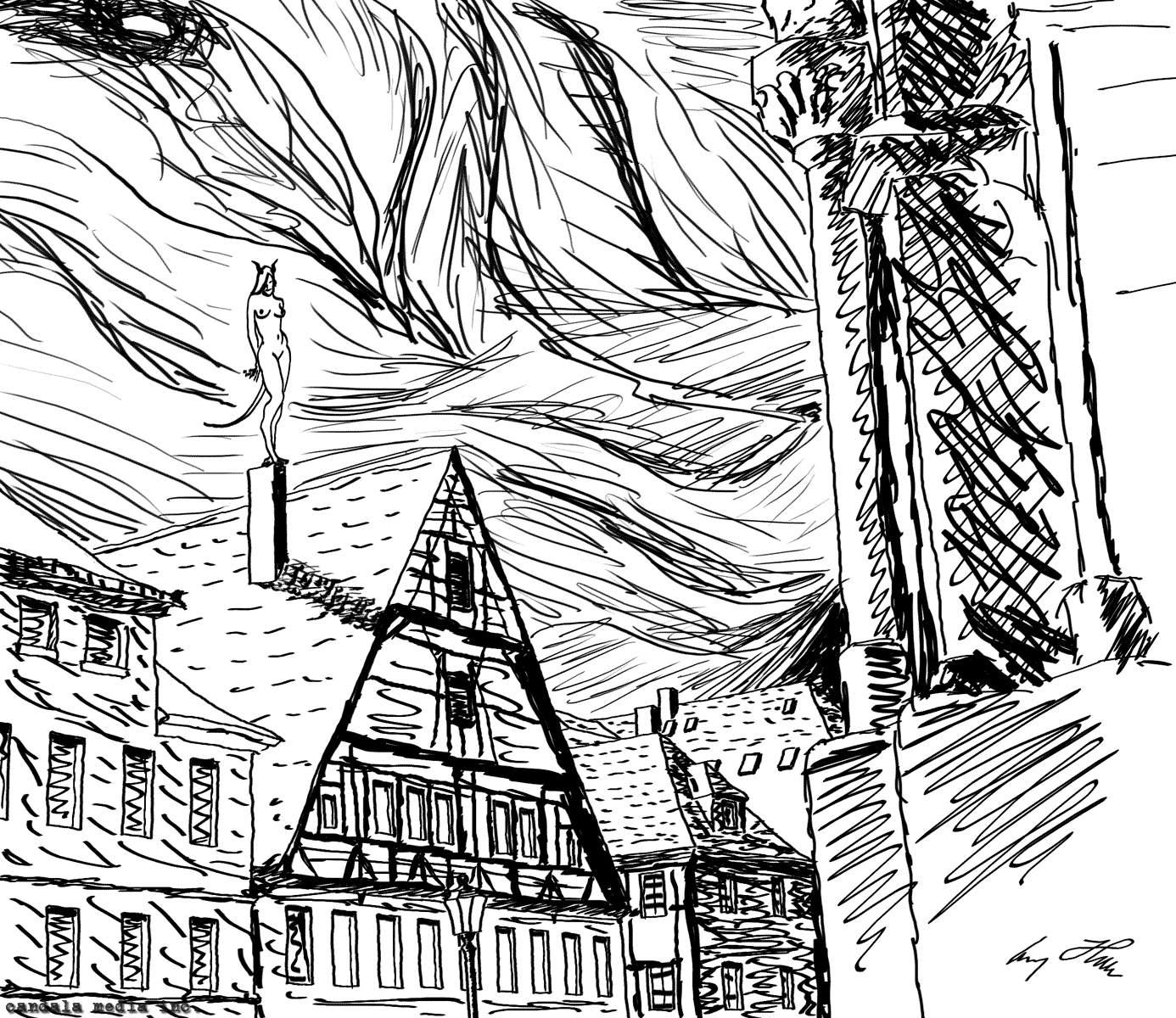 Суккуб на крыше