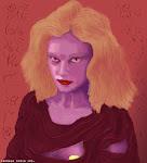 Блондинка у стены