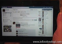Facebook di Blackberry Playbook