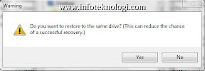 Recuva saat restore file
