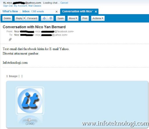 ... detik email sudah diterima di Inbox Yahoo beserta dengan attachment