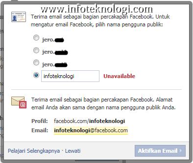 ... alamat email anda, pilih sesuai keinginan dan pilih Activate Email