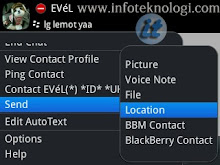 Send Location di Blackberry messenger 6