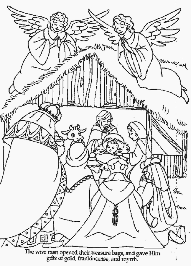 Free Printable Christmas Coloring Pages  - christmas coloring pages for free