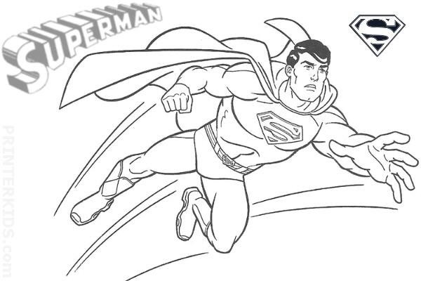 Free Superman Online Coloring Pages
