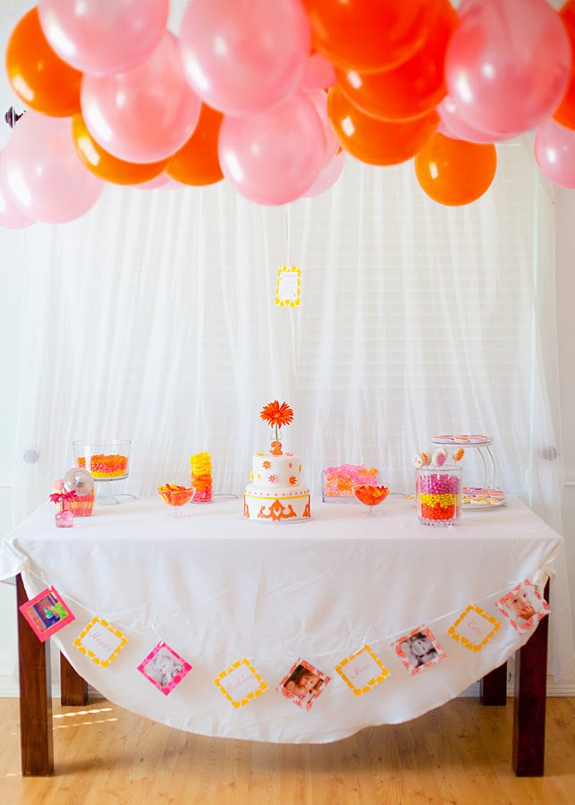 Pink & Orange Dessert Table