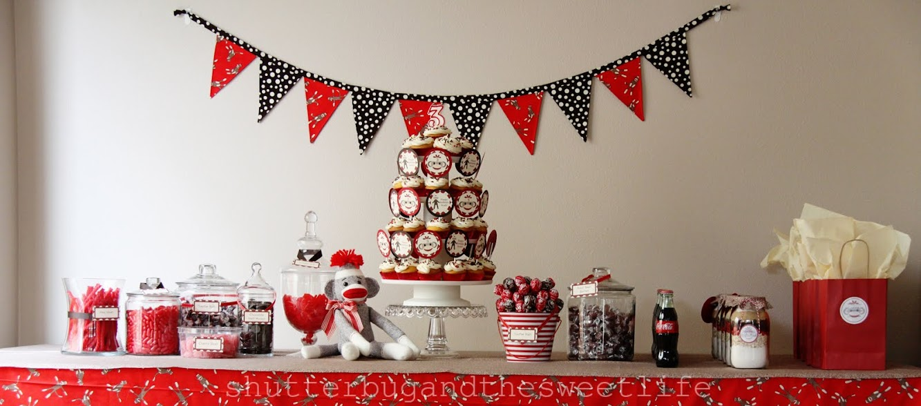 Sock Monkey Dessert Table