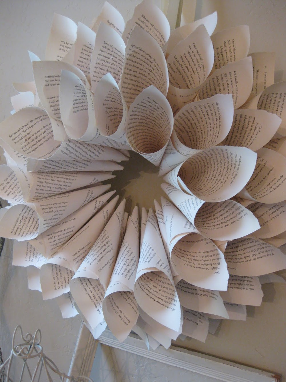 $3 Book Page Wreath