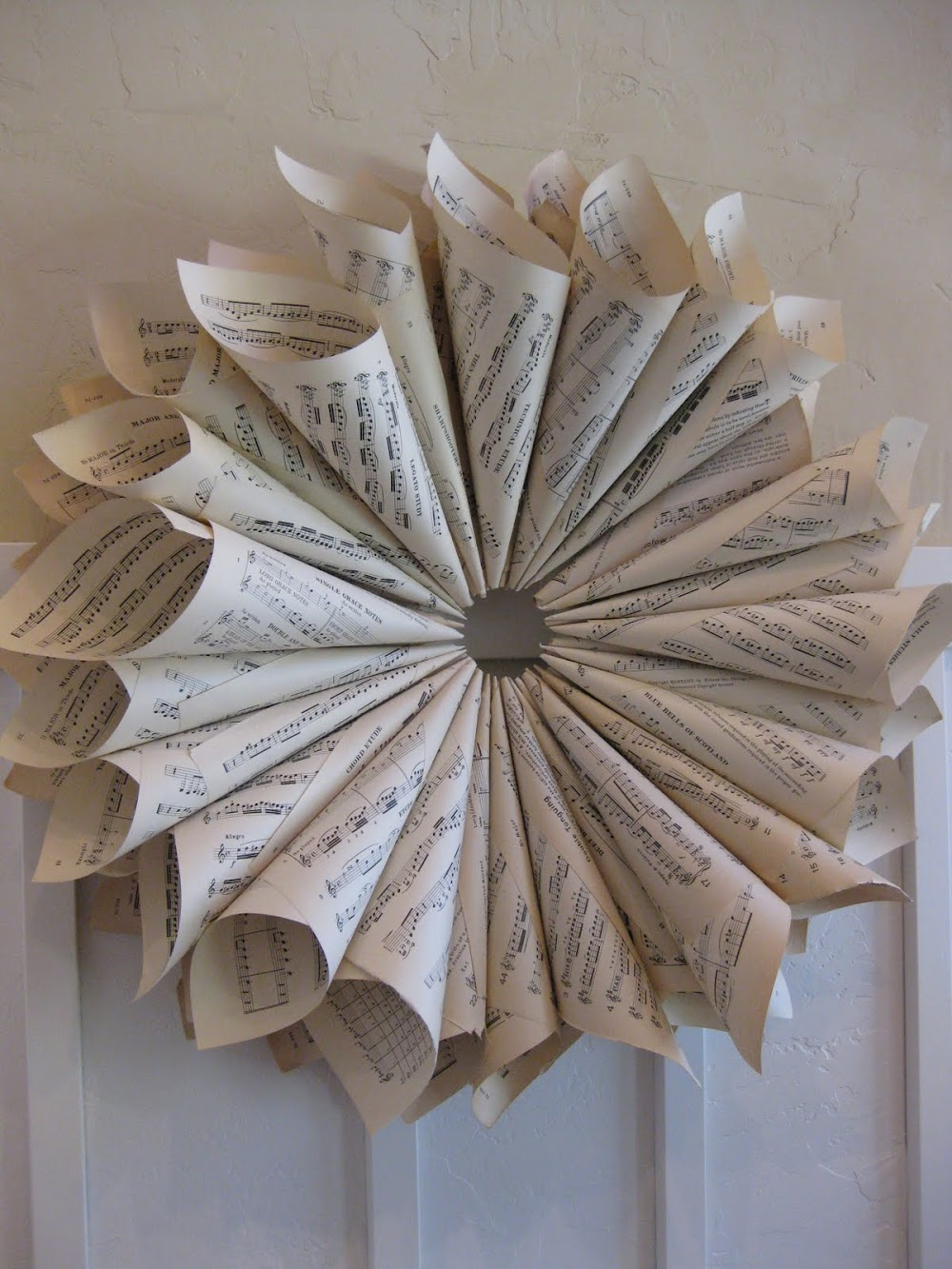 Vintage Sheet Music Wreath Tutorial