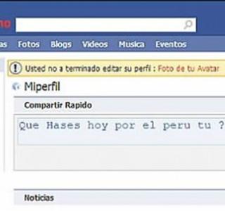 Pena ajena con el Facebook Peruano, ugh.