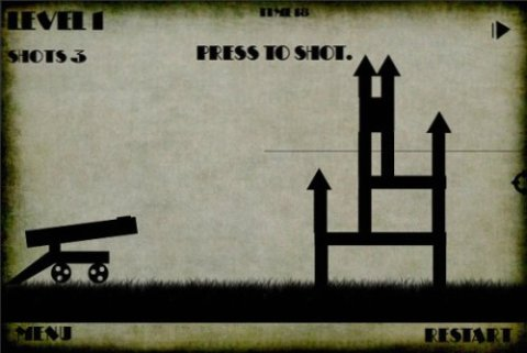 Old Cannon - Flash based game similar to Angry Birds