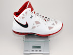 lebron8 ps white red gram Weightionary