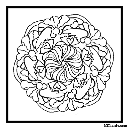 Printable Mandala Coloring Pages for Adults and Teens - mandala printable coloring pages