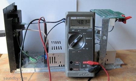 Unit tested for DC Power Output, Multimeter shows 48.1VDC