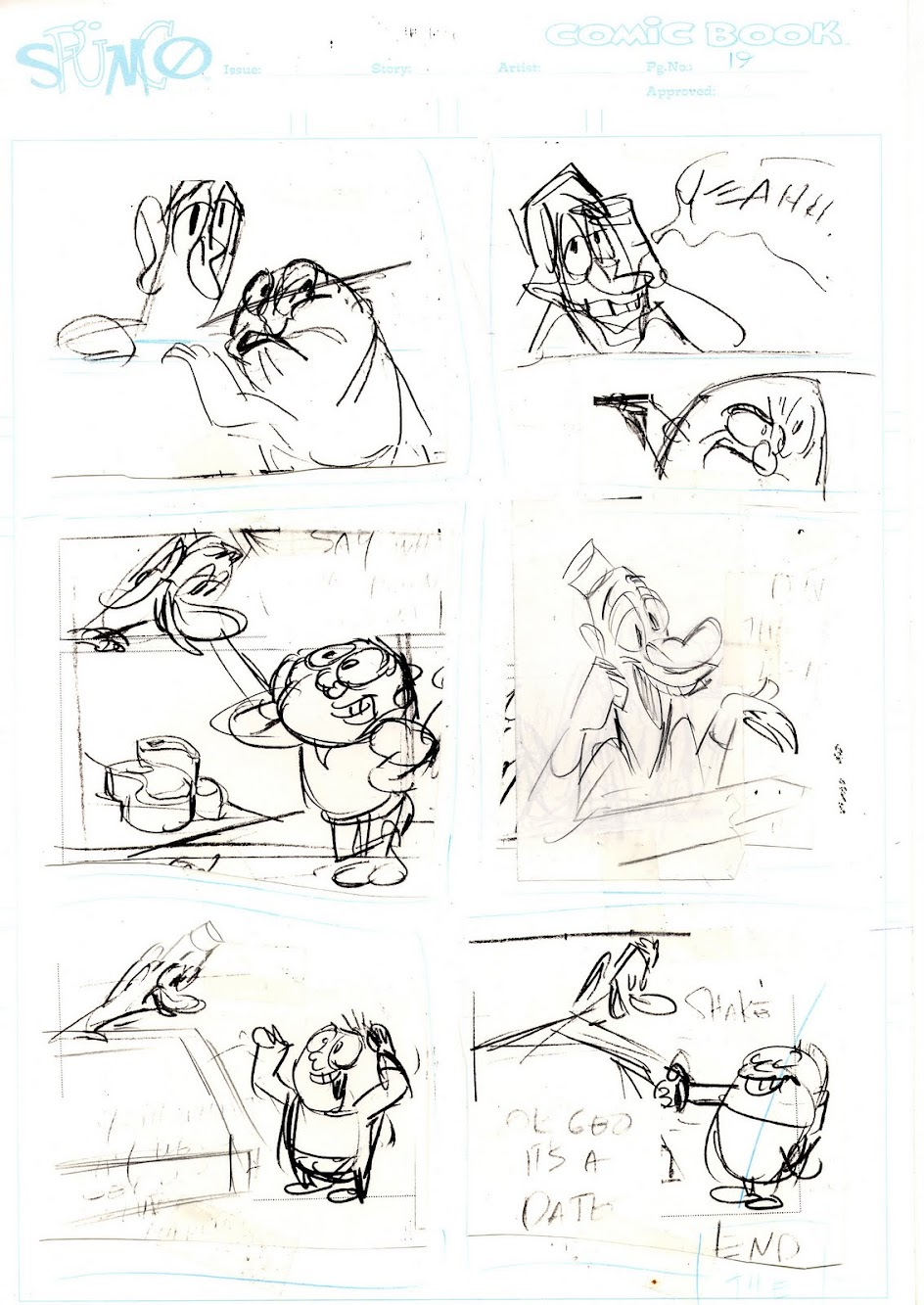 Spumco Comic Book Original Art