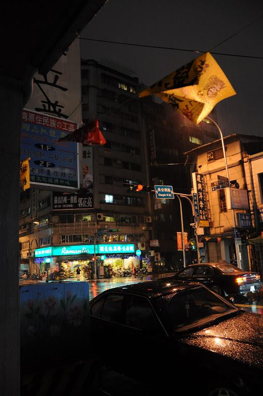 Rainy Taipei streetcorner